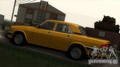 ГАЗ 3110 Такси для GTA San Andreas вид сзади