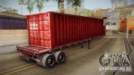 Red Trailer Container HD для GTA San Andreas вид справа