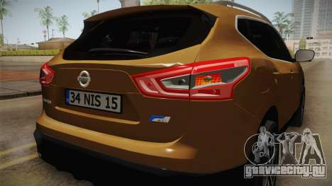 Nissan Qashqai 2016 IVF для GTA San Andreas колёса