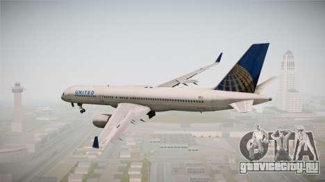 Boeing 757-200 United Airlines для GTA San Andreas вид справа
