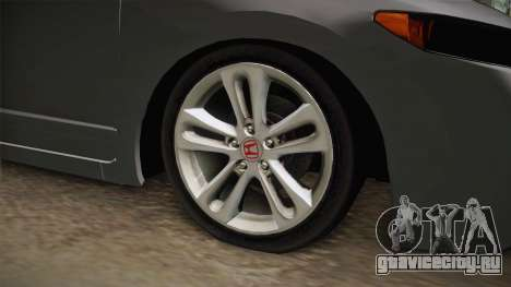 Honda Civic SI 2007 для GTA San Andreas вид сзади