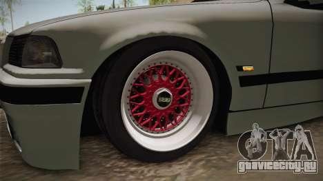 BMW 320i E36 Sedan для GTA San Andreas вид сзади