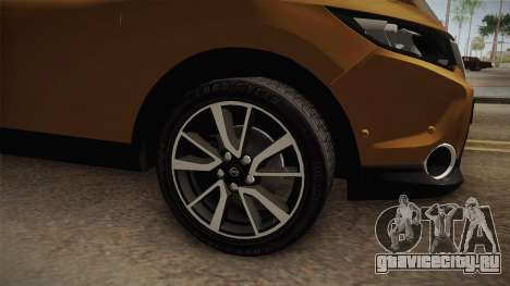 Nissan Qashqai 2016 IVF для GTA San Andreas вид сзади