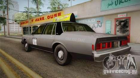 Chevrolet Impala Taxi 1985 для GTA San Andreas вид слева