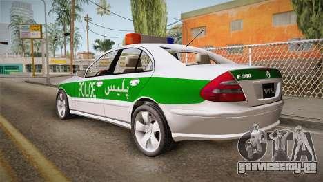 Mercedes-Benz E500 Iranian Police для GTA San Andreas вид слева