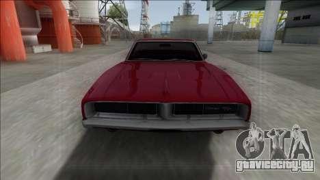 Dodge Charger RT Cabrio для GTA San Andreas вид сзади слева