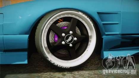 Nissan 180SX RPS13 Type-X для GTA San Andreas вид сзади