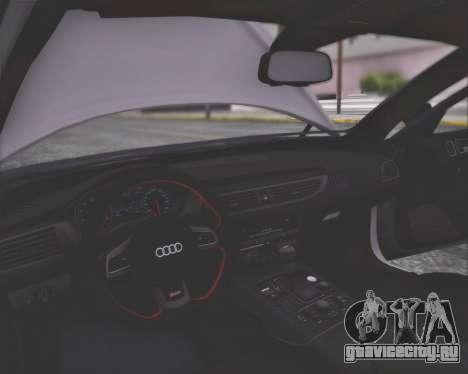 Audi RS6 2016 для GTA San Andreas вид изнутри