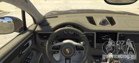Porsche Macan Turbo 2016 для GTA 5 вид сзади слева