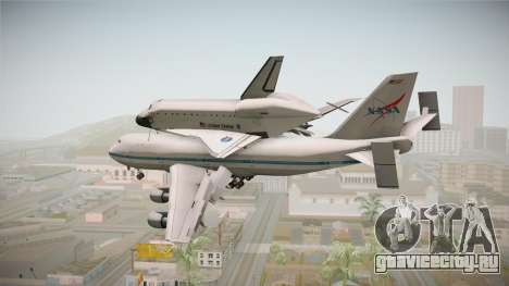 Boeing 747-100 Shuttle Carrier Aircraft для GTA San Andreas вид слева