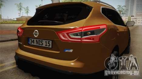 Nissan Qashqai 2016 IVF для GTA San Andreas двигатель