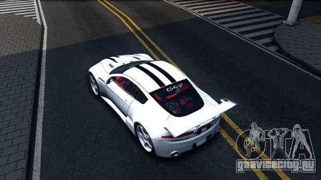 Aston Martin Vantage V8 для GTA San Andreas вид сзади