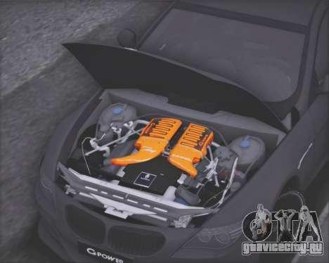 BMW M6 G-Power Hurricane RR для GTA San Andreas вид изнутри