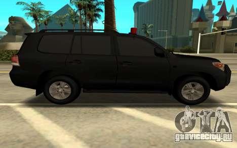 Toyota LC 200 ФСБ для GTA San Andreas вид слева