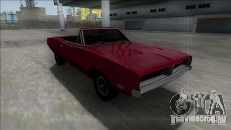 Dodge Charger RT Cabrio для GTA San Andreas вид сзади