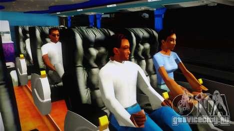 Starbus 2 Flecha Bus Egresados для GTA San Andreas вид изнутри