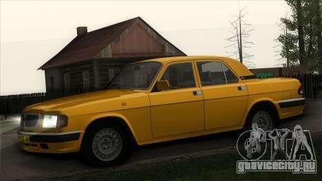 ГАЗ 3110 Такси для GTA San Andreas вид изнутри
