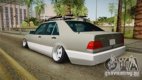Mercedes-Benz 500SE 1991 Euro-Rat Style для GTA San Andreas вид слева