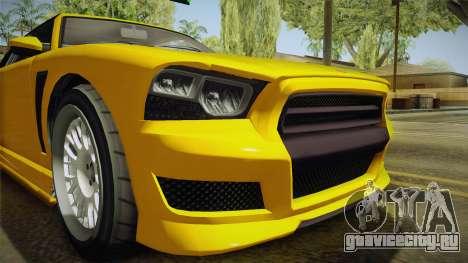 GTA 5 Bravado Buffalo 2-doors Cabrio IVF для GTA San Andreas вид изнутри
