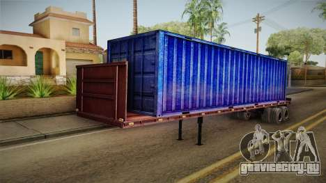 Blue Trailer Container HD для GTA San Andreas