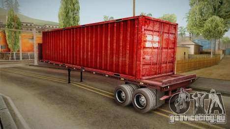 Red Trailer Container HD для GTA San Andreas вид слева