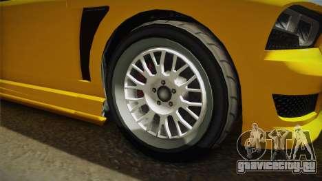 GTA 5 Bravado Buffalo 2-doors Cabrio IVF для GTA San Andreas вид сзади