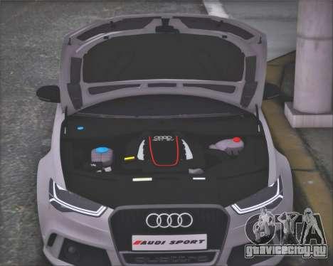 Audi RS6 2016 для GTA San Andreas вид сзади