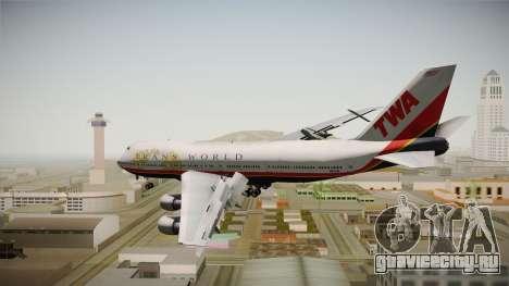Boeing 747 TWA Final Livery для GTA San Andreas вид справа