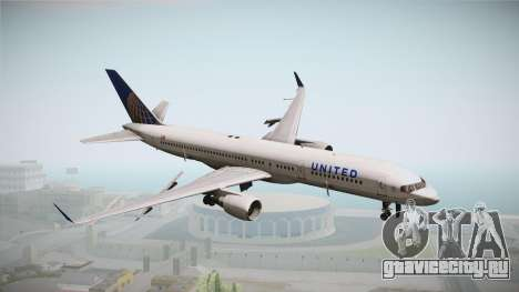 Boeing 757-200 United Airlines для GTA San Andreas
