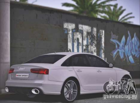 Audi RS6 2016 для GTA San Andreas вид слева