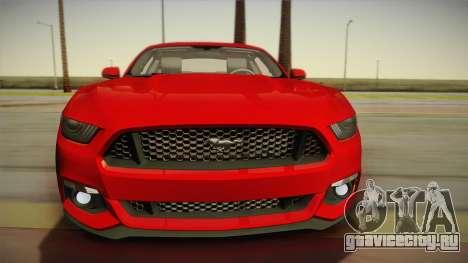 Ford Mustang GT 2015 5.0 для GTA San Andreas вид сзади