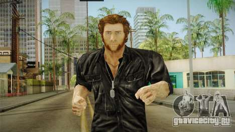 Logan in Black No Claws для GTA San Andreas