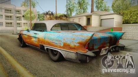 Cadillac Eldorado Brougham 1957 Rusty IVF для GTA San Andreas вид справа