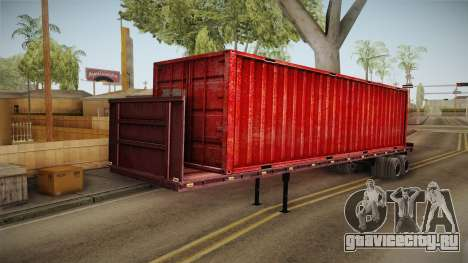 Red Trailer Container HD для GTA San Andreas вид сзади слева