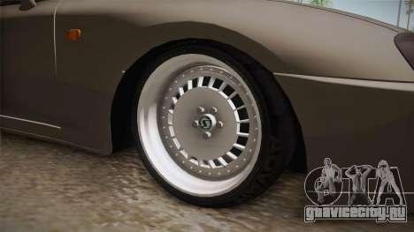 Toyota Supra Cabrio для GTA San Andreas вид сзади