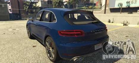 Porsche Macan Turbo 2016 для GTA 5 вид слева