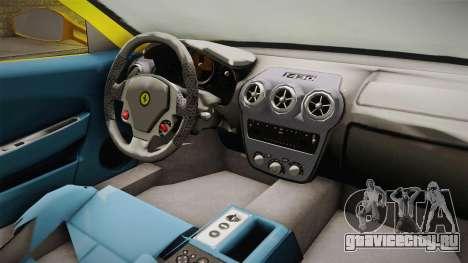 Ferrari F430 Spyder для GTA San Andreas вид изнутри
