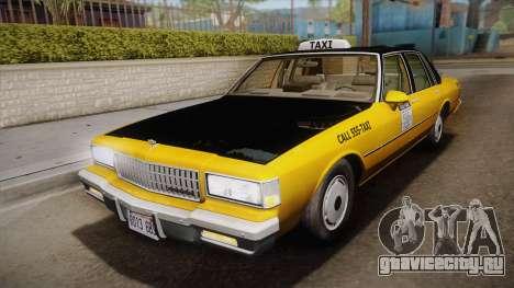 Chevrolet Caprice Taxi 1989 IVF для GTA San Andreas
