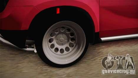 Dacia Duster Offroad для GTA San Andreas вид сзади