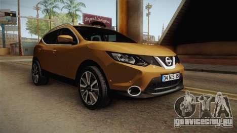 Nissan Qashqai 2016 IVF для GTA San Andreas вид справа