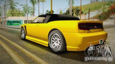 GTA 5 Bravado Buffalo 2-doors Cabrio IVF для GTA San Andreas вид слева