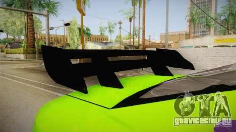 Ford Mustang NFS Green для GTA San Andreas вид изнутри