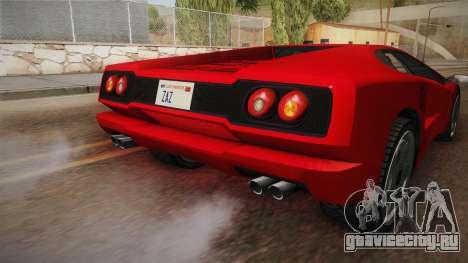 GTA 5 Pegassi Infernus Classic SA Style для GTA San Andreas вид сбоку