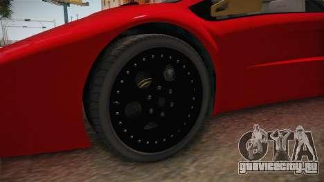 GTA 5 Pegassi Infernus Classic Coupe для GTA San Andreas вид сзади
