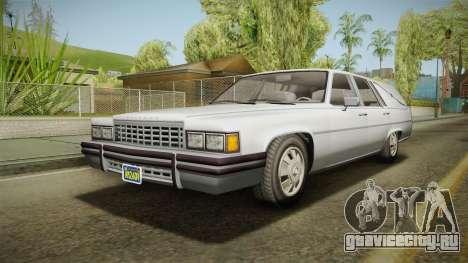 GTA 5 Albany Emperor Hearse IVF для GTA San Andreas