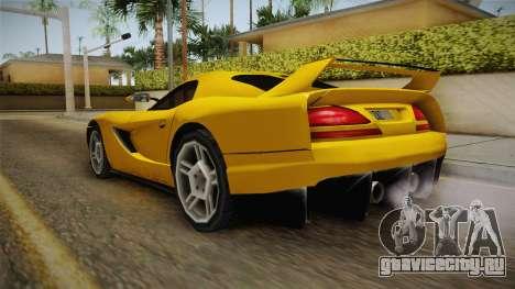 Jersey XS SA Style для GTA San Andreas вид сзади слева