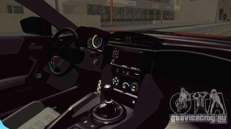 Toyota GT86 для GTA San Andreas вид изнутри