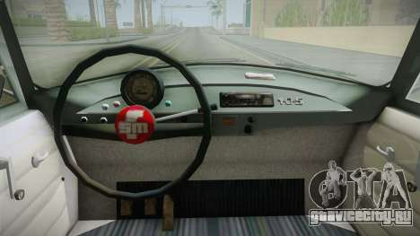 FSM Syrena 105 для GTA San Andreas вид изнутри