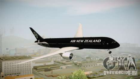 Boeing 787 Air New Zealand Black Edition для GTA San Andreas вид сзади слева