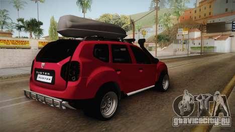 Dacia Duster Offroad для GTA San Andreas вид справа